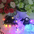 Ночной Свет Свет Шнура Водонепроницаемый Morning Glory Сад Christmas Party Украшения Шар Гирлянды Солнечных Батареях 30 LED # KF