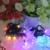 Luz de la noche Luz de la Secuencia Impermeable Morning Glory Jardín Decoración Del Partido Globo de Navidad Luces de Hadas Accionadas Solares 30 LED # KF
