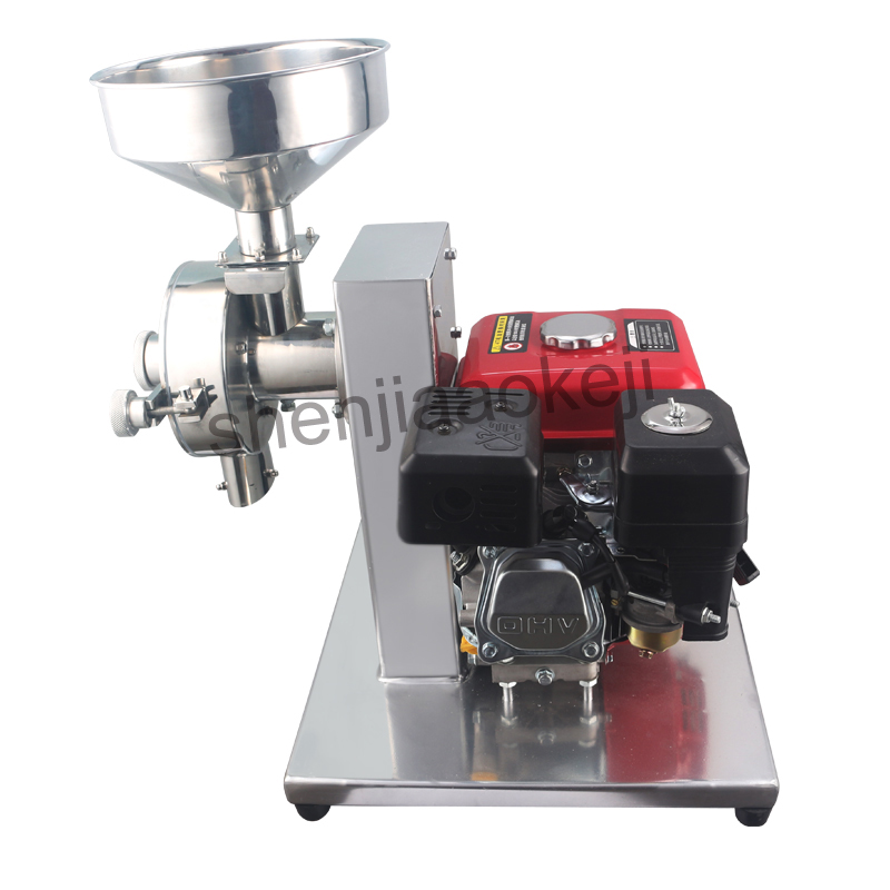Commercial Stainless Steel grinding machine Gasoline Mill Grain Mixer Mobile Outdoor Crusher Mobile Powder Grinder high quality 300g swing type stainless steel electric medicine grinder powder machine ultrafine grinding mill machine