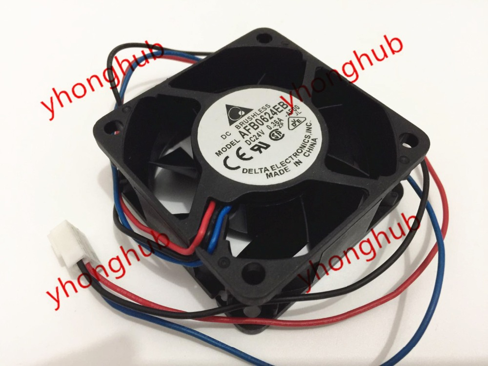Delta Electronics AFB0624EH -AF00 Server Square Fan DC 24V 0.36A 60x60x25mm 3-wire emacro for nonoise a8025h24b server square fan dc 24v 0 095a 80x80x25mm 2 wire
