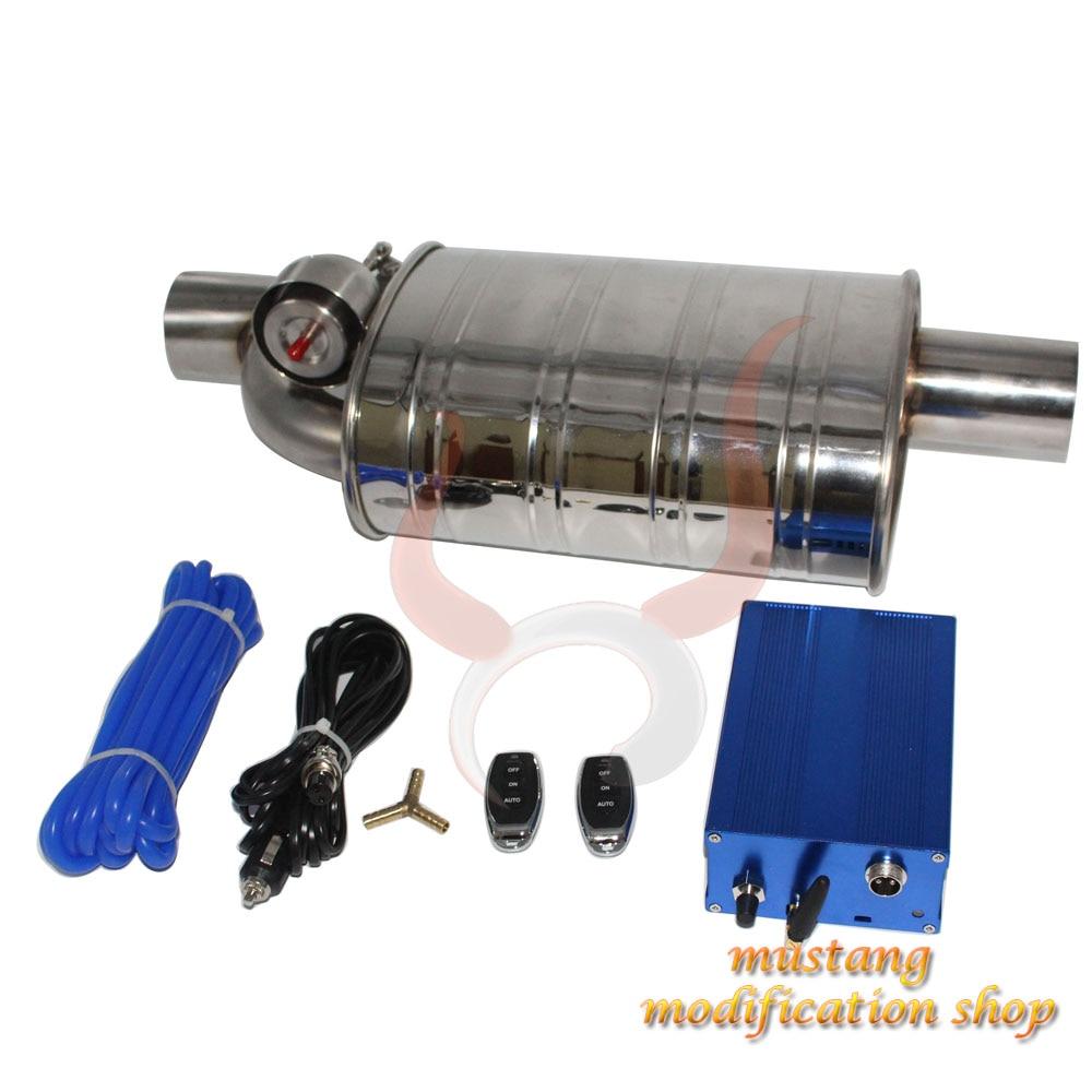 steel electric valve exhaust pipe car muffler Remote control Dump Valve Exhaust Cutout Intelligent vacuum pump remote control