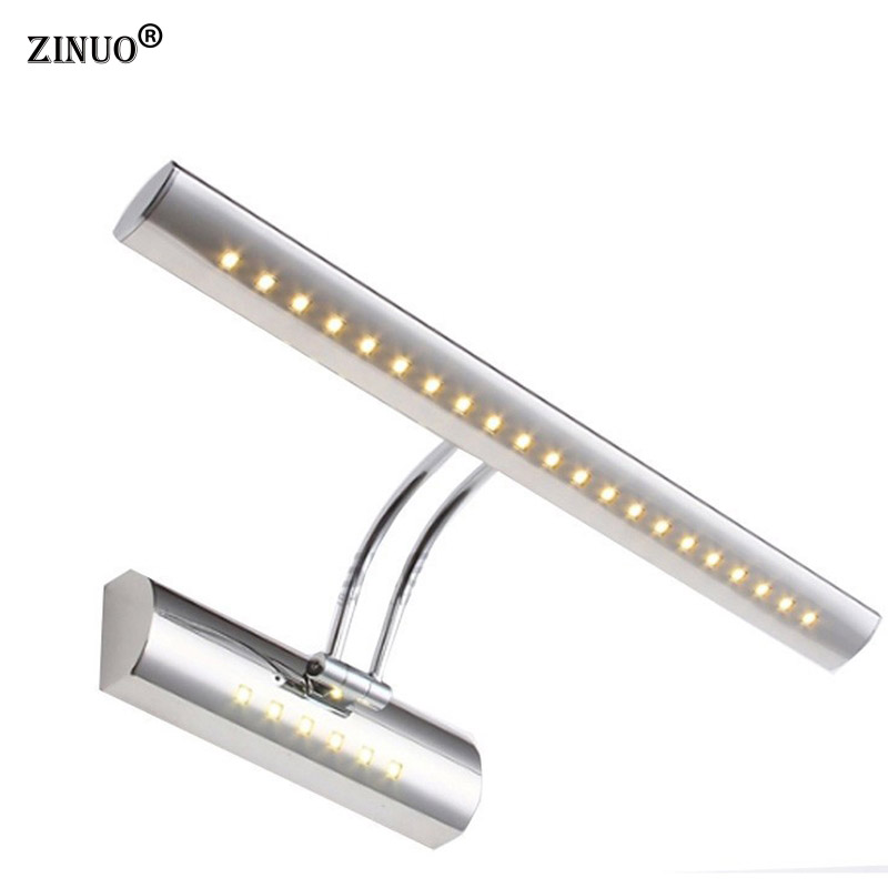 ZINUO Modern 5W 7W Bathroom LED Mirror Wall Light 5050 SMD AC220V 110V Hotel Washroom over Mirror Wall Sconces With Switch 3w smd 5050 led wall sconces picture mirror front light warm whitefixture bathroom lamp with switch