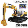 1:50 alloy engineering model car,Excavators, drilling machines, engineering model toys,Music engineering vehicles,free shipping