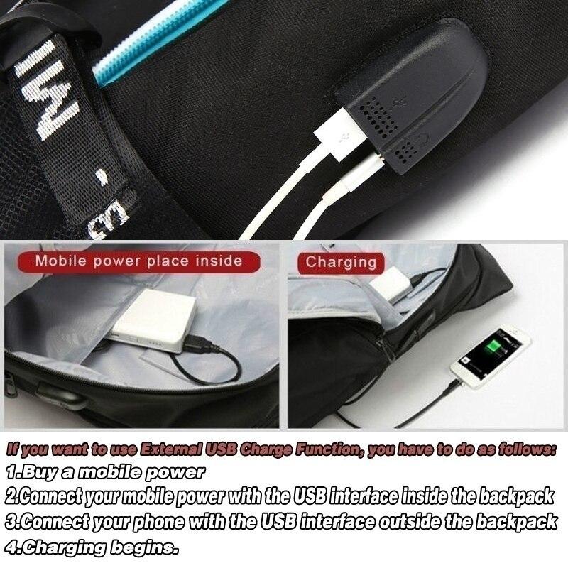 Marshmello American Mystery DJ Backpack Multifunction USB Backpack for Teenagers Men Women Student School Travel Luminous Bags