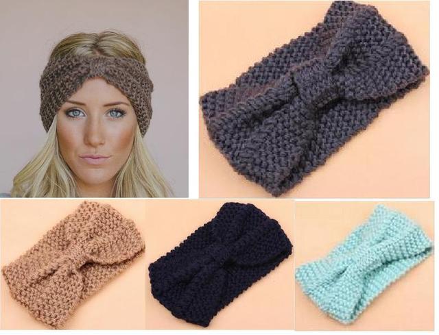Vrouwen Brede Hoofdband Geknoopt Haarband Winter Oorwarmer Vallen