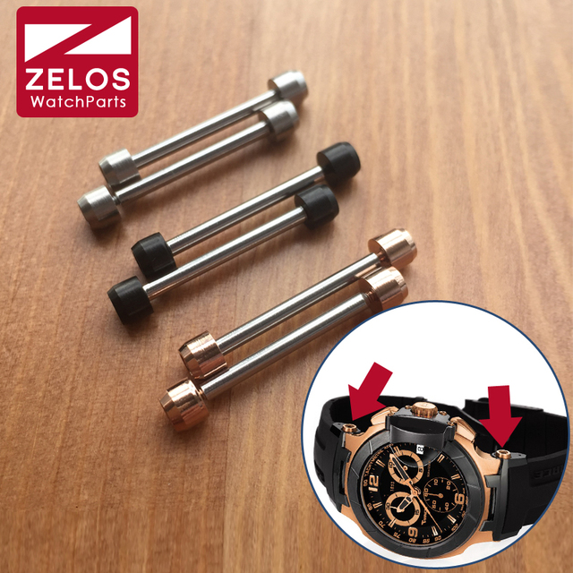 Tige de vis de montre hexagonale intérieure de 28mm, pour TS Tissot T race t sport T048 motoGP, outils de pièces de montre (or rose, noir, argent)