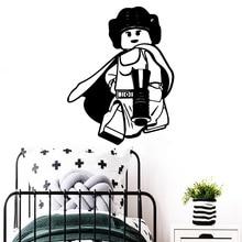 Pretty Lego Wall Sticker Vinyl Decal For Kids Baby Room lego Art Decals Bedroom Stickers Mural muursticker
