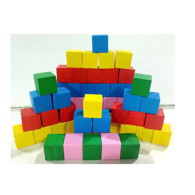 20Pcs/set Colorful Wooden Stacking Up Building Blocks Square Cubes Baby Kids Stacking Stack Up Learning Education Toys Hot Gifts