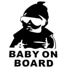 Baby Hat Sunglasses Car Sticker Window Reflective Sheeting 3D