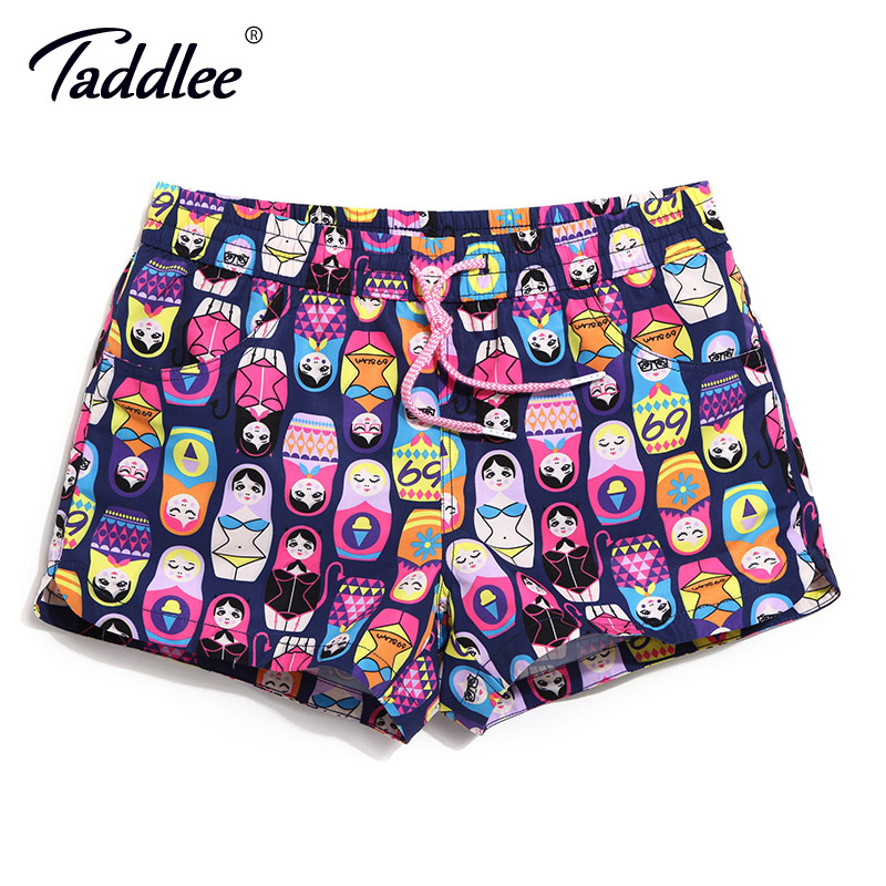 Taddlee Brand Women Beach   Board     Shorts   Running Sports Boxer Trunks   Shorts   Swimwear Swim Quick Drying Large Size Surfing Trunks