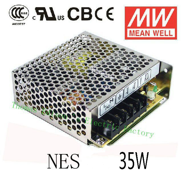 Original MEAN WELL power suply unit ac to dc power supply 35W 5V 7A 12V 3A MEANWELL original power suply unit ac to dc power supply nes 350 12 350w 12v 29a meanwell