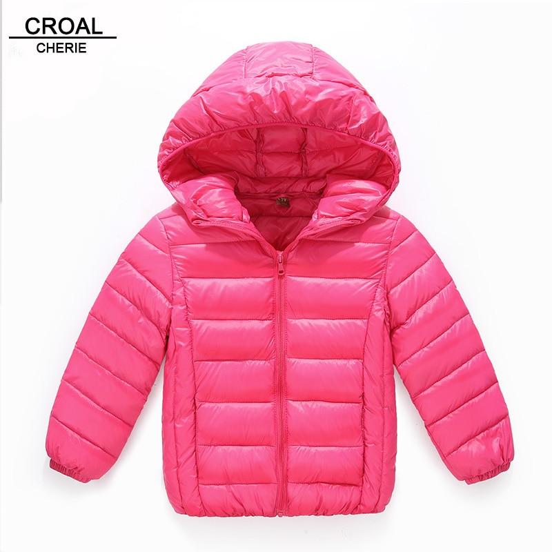 110-150cm Light 90% White Down Coat For Boys Outerwear Children Winter Parkas Jacket For Girls Infant Overcoat Winter Clothing  цены онлайн