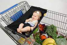 Infant Sling Outdoor Shopping Cart Baby Carrier Sling Baby Children Folding Shopping Cart Cover Cushion cheap LukakaL 4-6 months 0-3 months 10kg COTTON spandex Horizontal Backpacks Carriers geometric NB001