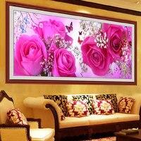 전체 다이아몬드 그림 나이 맘에 피는 꽃 Diy 다이아몬드 자수 중국어 아름다운 그림 장식 거실