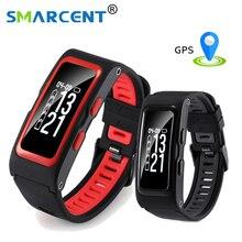 Smarcent smart Сердечного Ритма Смарт-браслет с независимыми GPS послужной Температура высота фитнес-трекер Браслет
