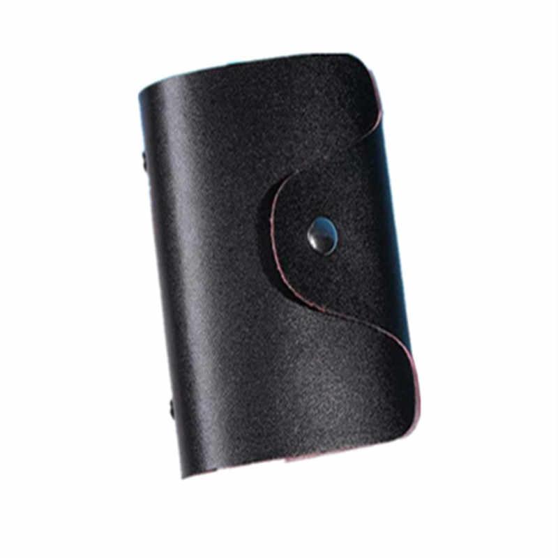 Aelicy 2020 Credit Kaarthouder Tassen Wallet Vrouwen Pocket Case Key Case Mannen Vrouwen Kaarthouder Portemonnee Leer Voor Credit kaarten