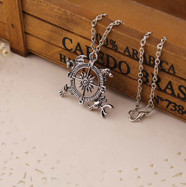 2015 New Movie Necklace Game of Thrones Inspired Intro Theme Crest Pendant Compass Necklace XY-N83