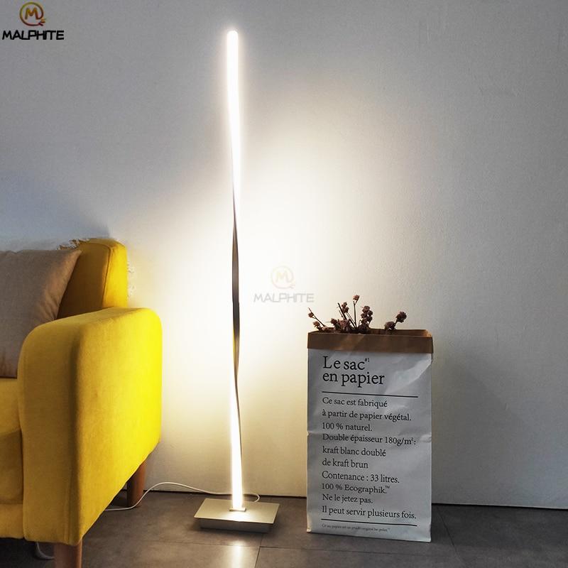 Modern Floor Lamp Nordic Standing Lamp American Floor Lamps Long Floor for Living Room Industrial Decorative Lighting Fixtures