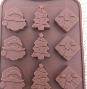Image 2 - Christmas decorations Christmas tree chocolate Party DIY fondant baking cooking cake decorating tools silicone molds  20%off