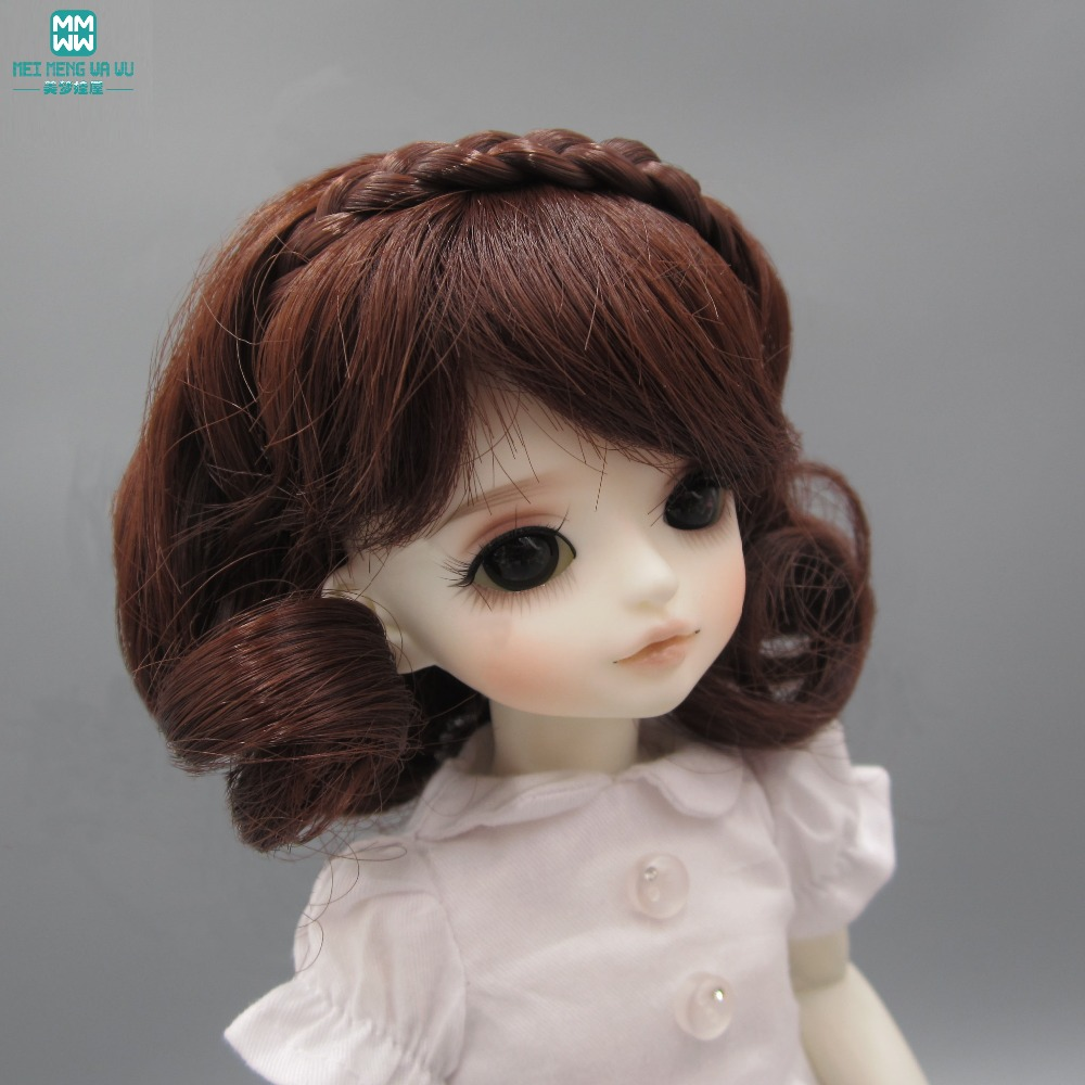 Doll finished wig for 1/3 1/4 1/6 BJD/SD doll hair Wave curls hair Black brown light gold handsome grey woolen coat belt for bjd 1 3 sd10 sd13 sd17 uncle ssdf sd luts dod dz as doll clothes cmb107