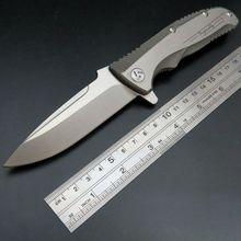 Efeng Maker 1 design Original ceramic ball bearing Flipper folding knife VG-10 TC4 Titanium handle camping hunting knife(China (Mainland))