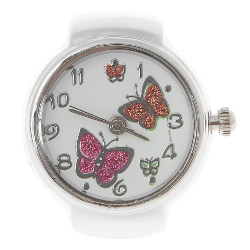 JAVRICK Women Dial Quartz Analog Finger Ring Watch Butterfly Elastic - Damklockor - Foto 3