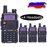 4PCS Baofeng BF UV5R Amateur Radio Portable Walkie Talkie Pofung UV 5R 5W VHF UHF Radio