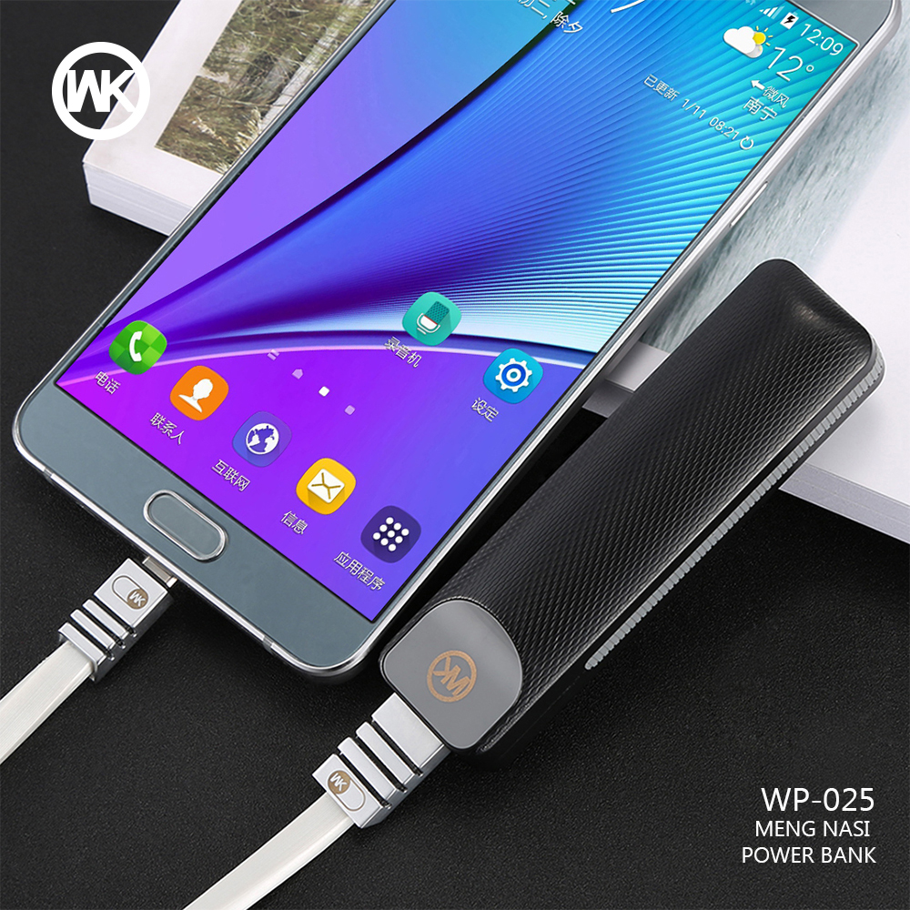 WKDESIGN mi ni Power Bank Tragbare Ladegerät mi Power Solar Externe Batterie Pack für iPhone X Xiao mi Batterie Bank netzteil