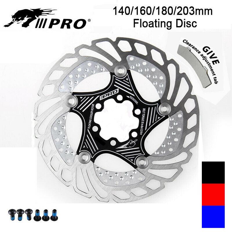 VTT disque frein Rotor vtt Cycle plaquettes de frein 6 boulon 140-203mm coloré vtt vélo freins pour SHIMANO SRAM noir