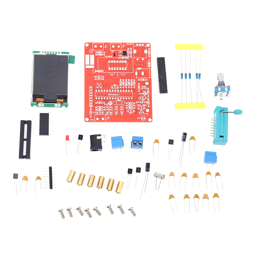 GM328 DIY Transistor Tester Tool Parts Frequency Measurement LCD Display PWM Square Wave DIY Kits
