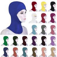 12PCS Muslim Women Bonnet Ninja Soft Inner Neck Hijab Cap Islamic Niquabs Wear Underscarf Headwear Hat Middle East Random Color