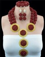 2016 Fashion Crystal Ball Costume Jewellery Nigerian Wedding African Beads Jewelry Set HD0701