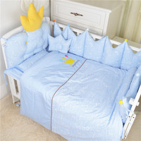 Nordic Style Baby Cotton Embroidered Bedding Set Bed Four Seasons Baby Bedding Ten Sets Bed Bumper