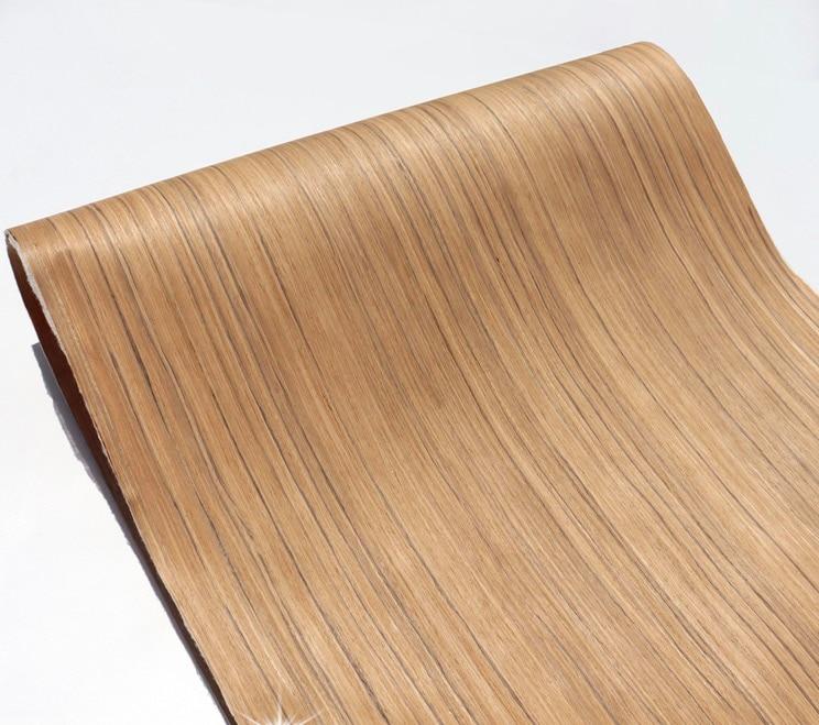 Length:2.5Meters Width:62mm Thickness:0.25mm Technological Teak Wood Veneer