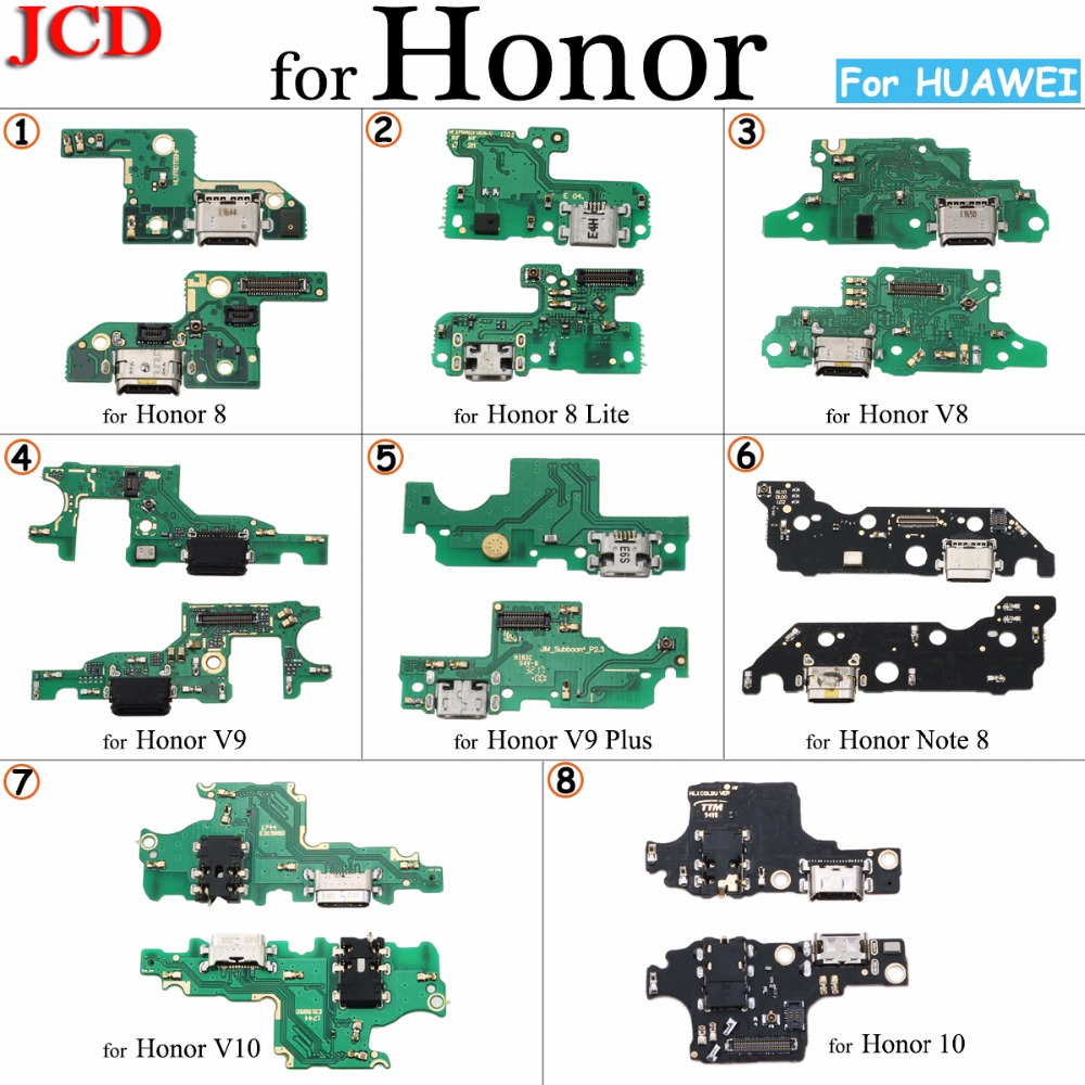 JCD New For Huawei Honor 8 8 Lite 9 9i 10 9 Lite V8 V9 V10 Microphone Module+USB Charging Port Board Flex Cable Connector Parts