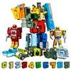10 sztuk kreatywny montaż klocki edukacyjne figurka numer Robot transformacyjny deformować samolot prezent samochodowy zabawki dla dzieci