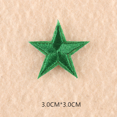 1 шт. смешанные нашивки со звездами для одежды, железная вышитая аппликация, милая нашивка эмблема на ткани, одежда, аксессуары для одежды DIY 61 - Цвет: 61U