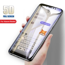 цена на New 5D Full Cover Glass For Xiaomi Redmi 7 7A 6 6A K20 Pro 5 Plus Redmi Note 6 7 Pro smartphone Screen Protector Toughened Film