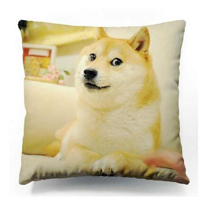 Hot Funny Doge Cushion Cover Dogs Wow Such Face Much Meme Dog Throw