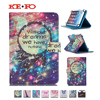For BQ 1051G 3G Black 10 Inch Universal Tablet Magnetic Print Wallet PU Leather Cover Case