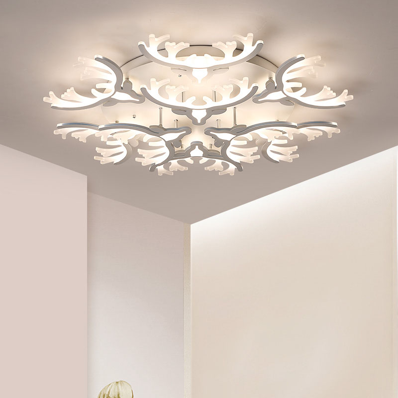 Lican Modern Ceiling Chandelier Lights For Living Room Bedroom Kitchen Hallway White Ac85 265v Dim Chandeliers Lighting Re