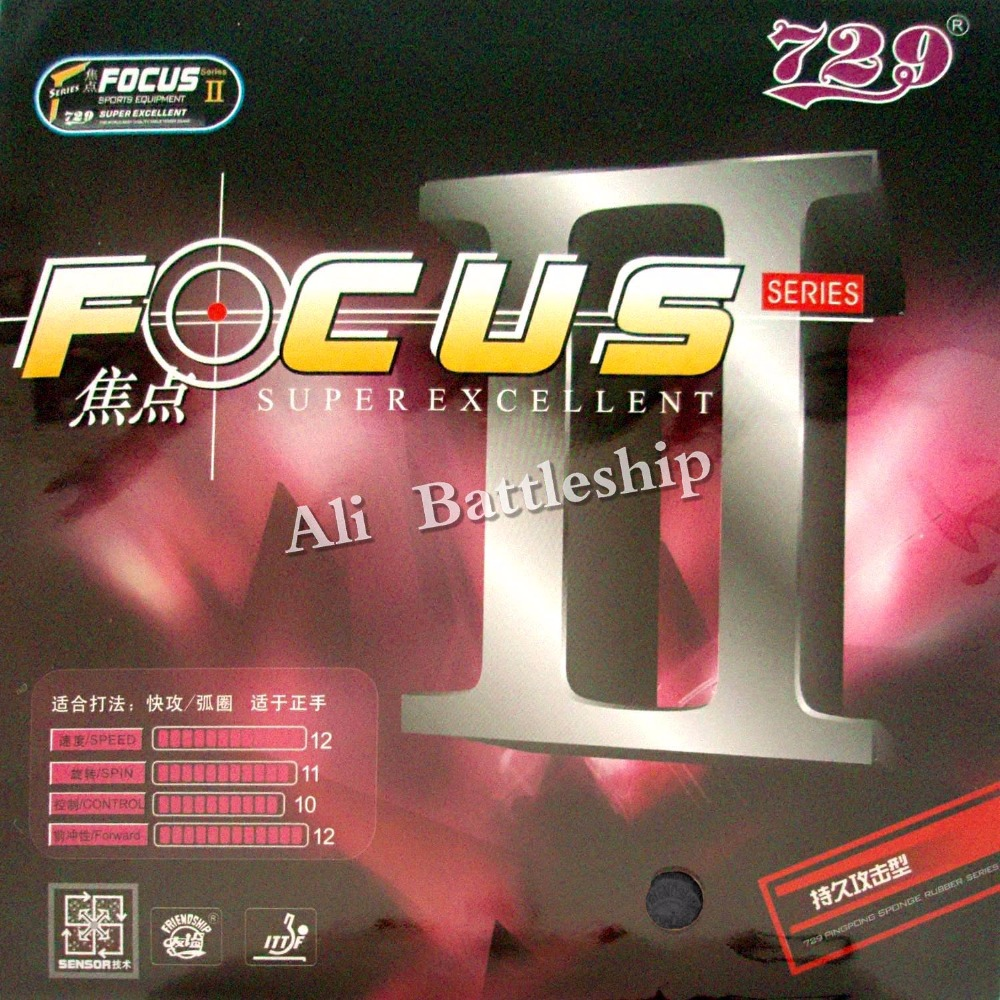 Original RITC 729 Friendship FOCUS II FOCUS2  Pips-in Table Tennis Pingpong Rubber With Sponge