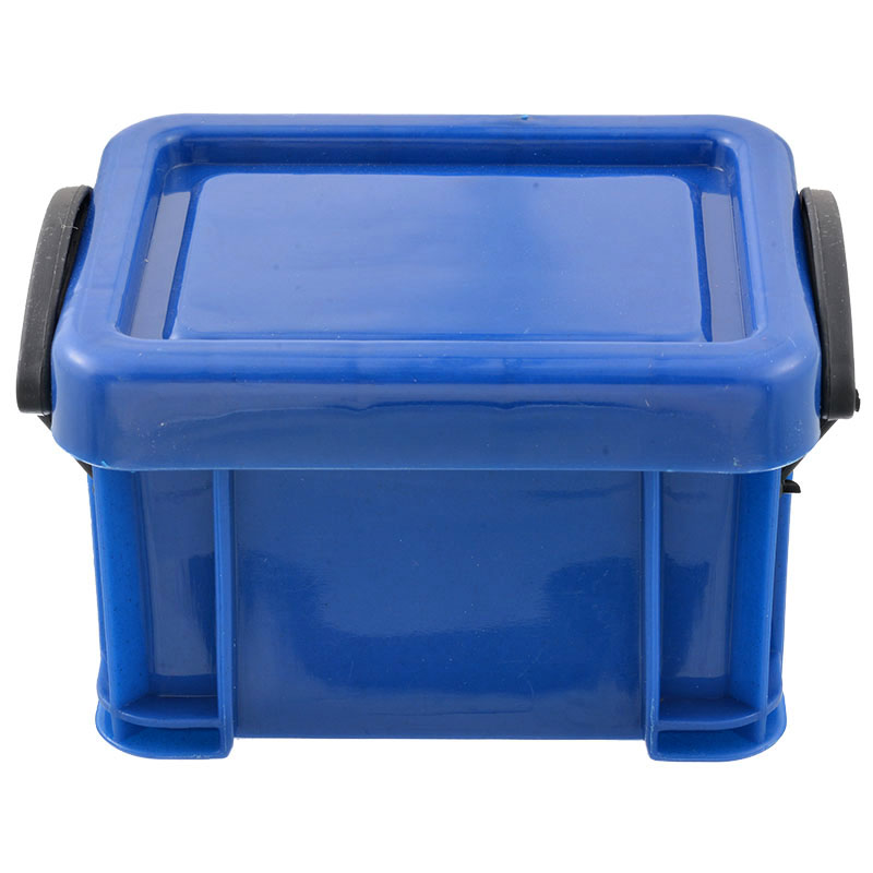 Mini Storage Box Plastic Blue With Lid Collection Jewelry Necklace Sundries Storage Container Case Box Holder Organizer 1PC