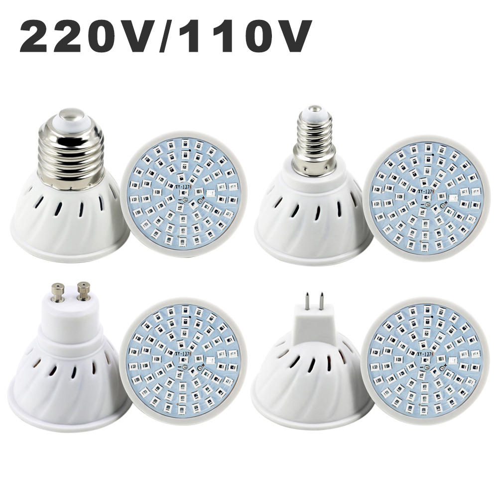 110V 220V LED Growing Lamp E14 MR16 GU10 E27 Phyto Growth Light Bulb Full Spectrum Plant Grow Lamps For Vegs Hydroponic System
