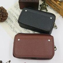 Fanny Bag Men Waist Pack Money Belt Wear Phone Coin Hip Horizontal Funny 6 inch Bum Double Nail Casual Male Purse Wallet