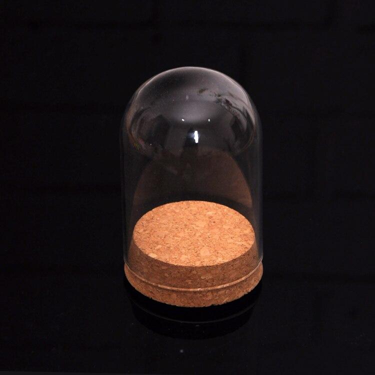 10Pcs Mini Clear Glass Hemisphere Cover Dome Cabochon With Cork Table Decor for Mini Landscape Ornament