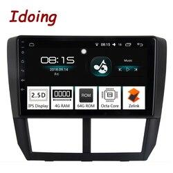 Idoing 1Din 9 автомобиль радио GPS; Мультимедийный проигрыватель Android 8,0 для Subaru Forester 2008-2012 4 г + 64 Восьмиядерный навигации быстрая загрузка