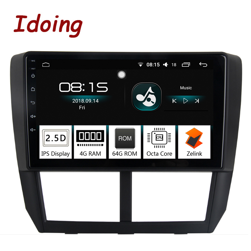 Idoing 1Din 9Car Radio GPS Multimedia Player Android 8.0 For Subaru Forester 2008-2012 4G+64G Octa Core Navigation Fast Boot