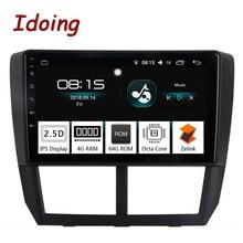Idoing 1Din 9 «автомобиль радио GPS; Мультимедийный проигрыватель Android 8,0 для Subaru Forester 2008-2012 4 г + 64 Восьмиядерный навигации быстрая загрузка