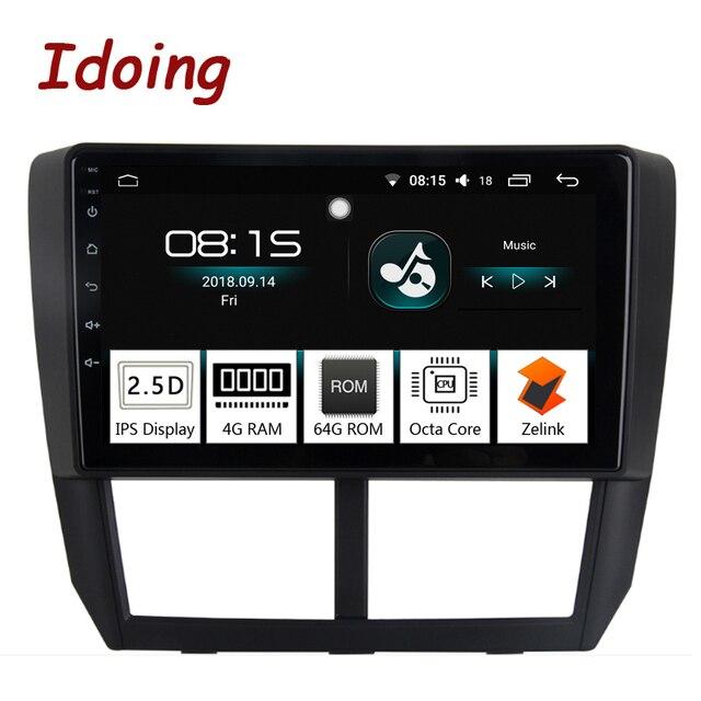 """Idoing 1Din 9 """"カーラジオ GPS マルチメディアプレーヤーアンドロイド 8.0 スバルフォレスター 2008-2012 4 グラム + 64 グラムオクタコアナビゲーション高速ブート"""